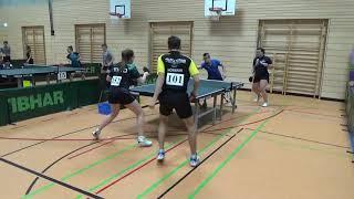 Hartl Hollo vs Deichert Hoermann Bayer  Jugendm  Ansbach 20181208 Table Tennis Stativ  5