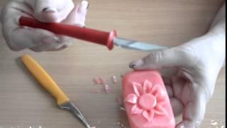 Карвинг по мылу  ромашка  soap carving