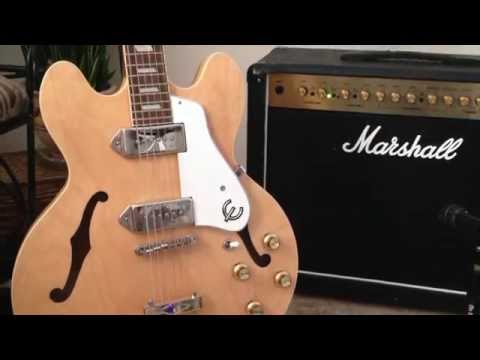 Epiphone Casino Hollowbody Guitar Demo