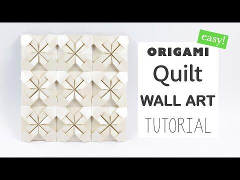 Easy Origami Quilt Wall Art Tutorial - DIY - Paper Kawaii