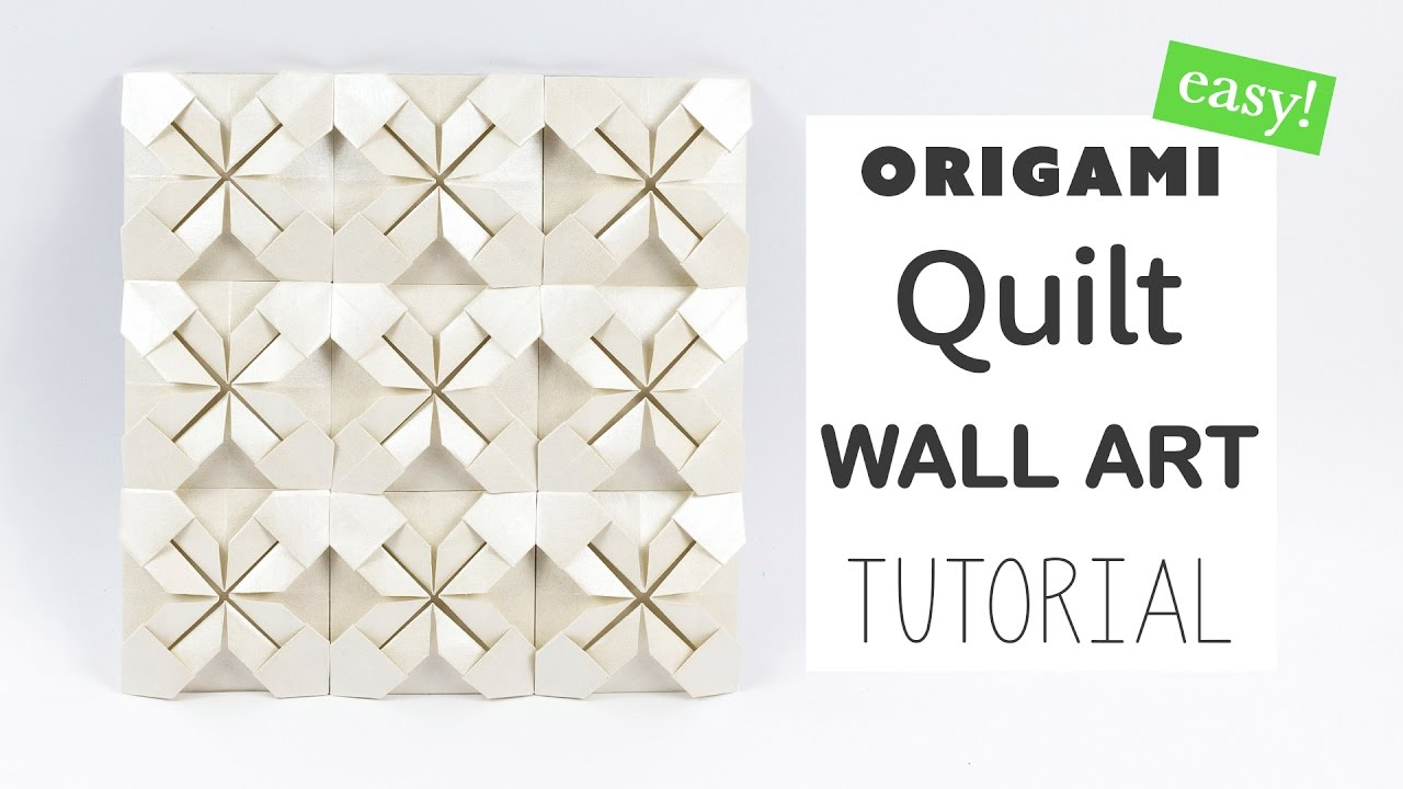 Easy Origami Quilt Wall Art Tutorial DIY Paper Kawaii