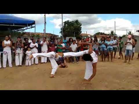 Roda de capoeira em Santanópolis com o grupo  de capoeira arte corpo que é de Feira de Santana BA