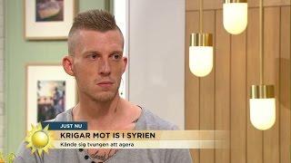 """Jesper strider mot IS: """"Inte min grej att bara skänka en hundralapp"""" - Nyhetsmorgon (TV4)"""
