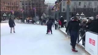Vlog || Ice Skating || Kungsträdgården at Stockholm, Sweden 2019!