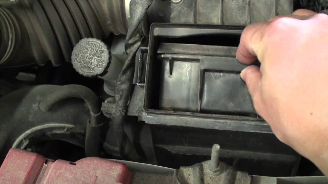 Diy Nissan Versa Engine Air Filter Service Youtube Mass Flow Sensor Sentra 2014 Location