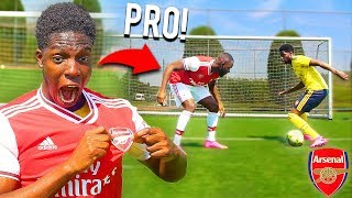 I GOT SIGNED FOR ARSENAL FC.. PROFESSIONAL FOOTBALLER!!