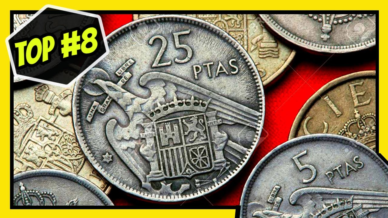 Top 8 Monedas Españolas Mas Valiosas 1939 1975 Pesetas El Mundo De Las Monedas Youtube