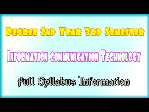 Degree 2nd Year 3rd Semester Information Communication Technology ICT Full Syllabus In Formation