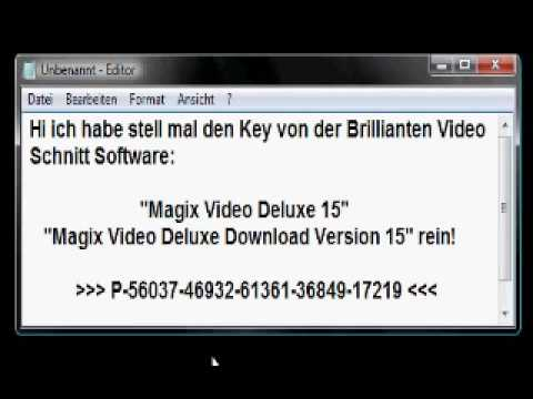 magix video deluxe 15 key youtube