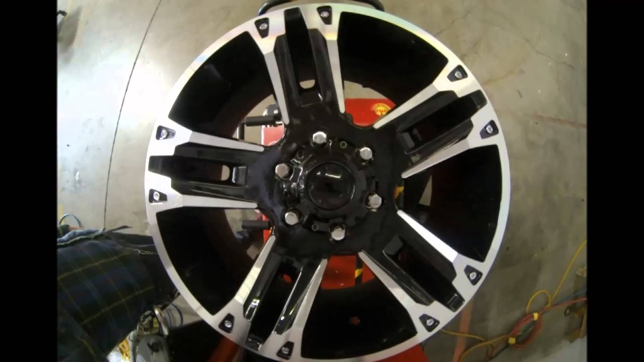 Ford F150 Black Rims Ultra Wheels Maverick 235 Black Machined - YouTube
