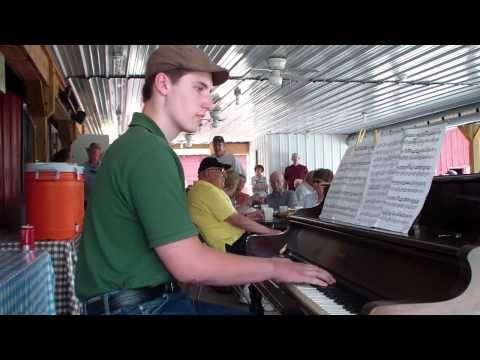 Jonathan Parsons THE ENTERTAINER |Central PA Ragtime Festival | June 22 2013 |street piano