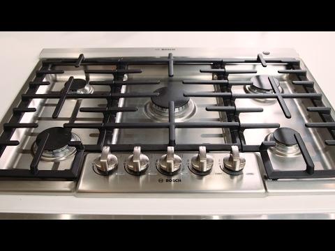 Bosch Range Top >> Bosch 800 Series 5 Burner Gas Cooktop Youtube