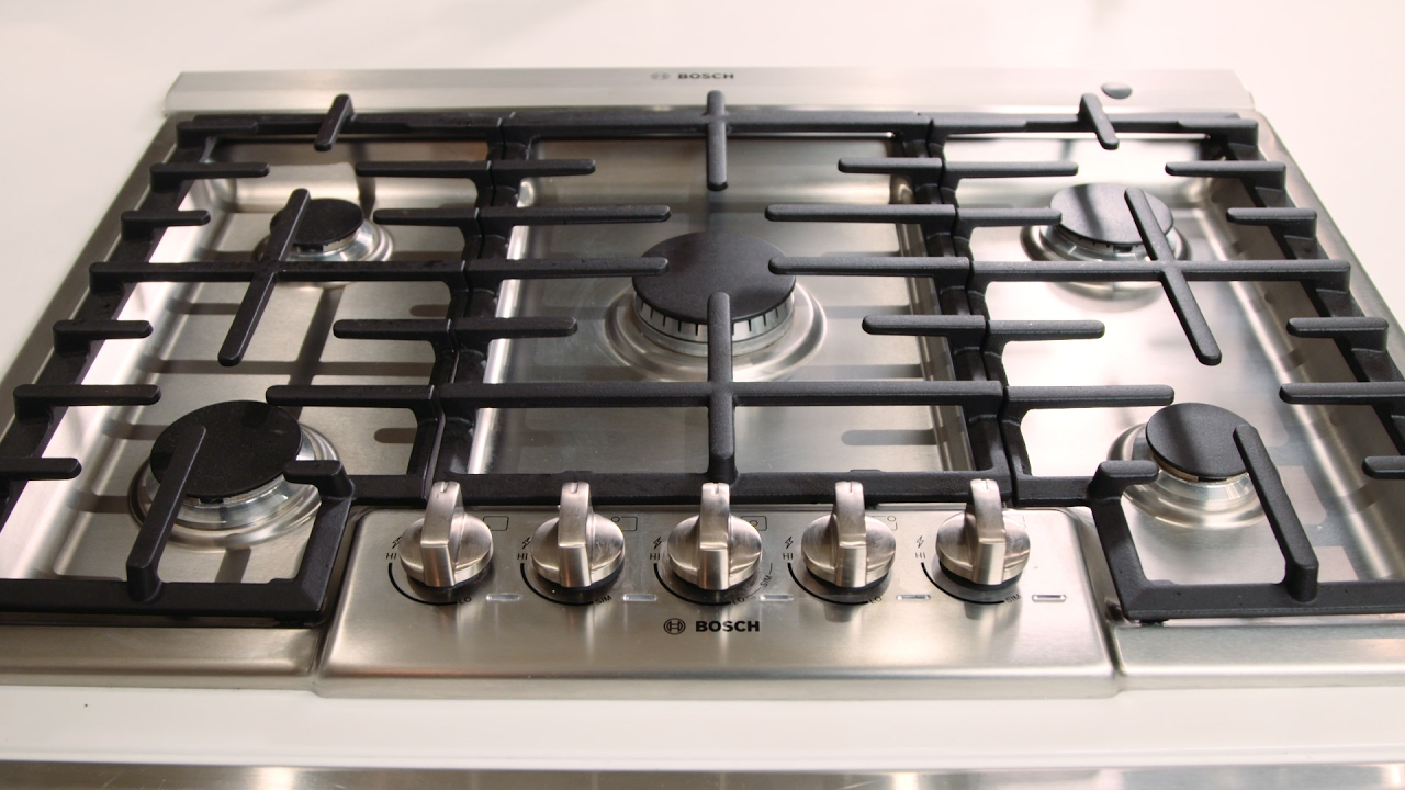 bosch 800 series 5 burner gas cooktop youtube. Black Bedroom Furniture Sets. Home Design Ideas