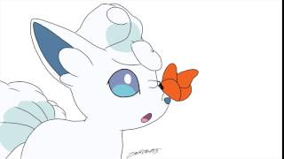 Alolan Vulpix Finds a Butterfly (Unfinished) (GIF)