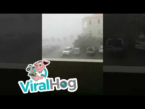 Hurricane Irma in British Virgin Islands || ViralHog