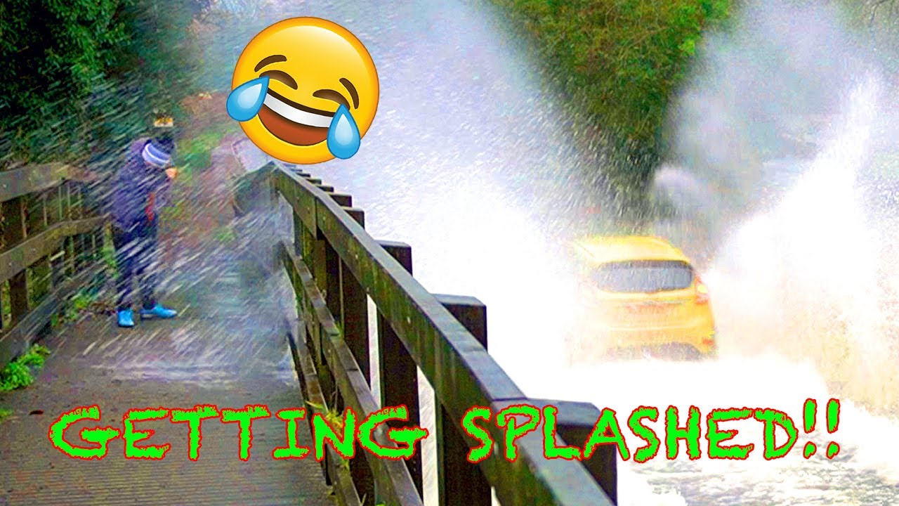 Getting Splashed By A Car Compilation #peoplegettingsplashed