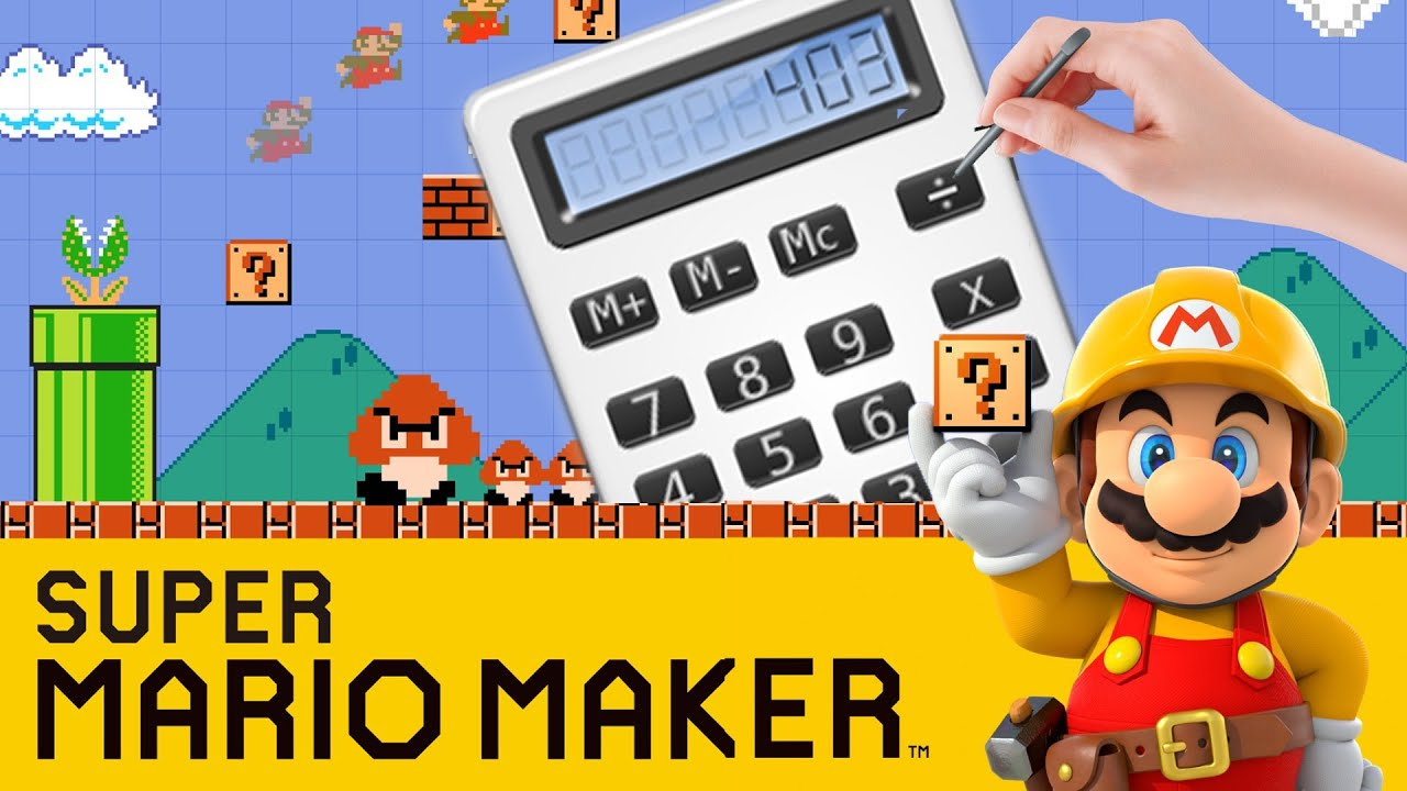 this working calculator in super mario maker is amazing youtube