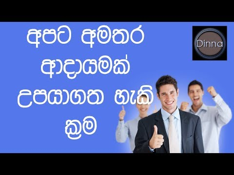 SIDE BUSINESS IDEAS/ EXTRA INCOME IDEAS FOR SRI LANKA IN SINHALA