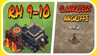 Rathaus 9-10 ClanKrieg Angriffe!| Clash of Clans Deutsch 024| Boomer