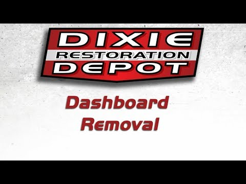 G Body Dashboard Removal