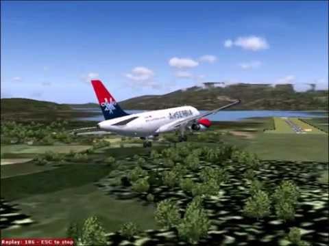 Avionske Karte Air Serbia.Landing At Tivat Airport Air Serbia A319