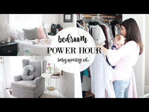 SPEED CLEANING MY ROOM 2018! BABY WEARING POWER HOUR   HOW TO CLEAN YOUR ROOM