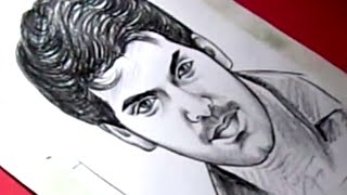 How to Draw Tamil Film Actor ARYA Drawing for Kids