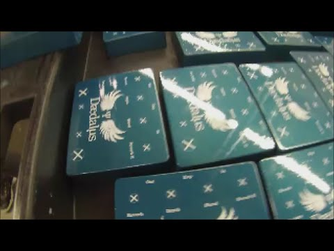 How To Screen Print Using 2 Part ADE Epoxy Ink - Powder Coated Metal Boxes
