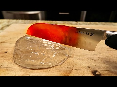 Thumbnail: EXPERIMENT Glowing 1000 degree KNIFE VS LIQUID GLASS