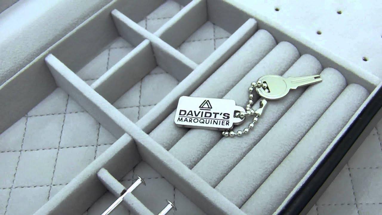 Boite bijoux mixte pour bagues colliers et charms - Boite a bijoux pour collier ...