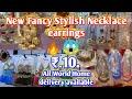 Fancy Stylish Necklace earrings Wholesale Market ।।  Amazing Style Earrings Necklace , Part-1