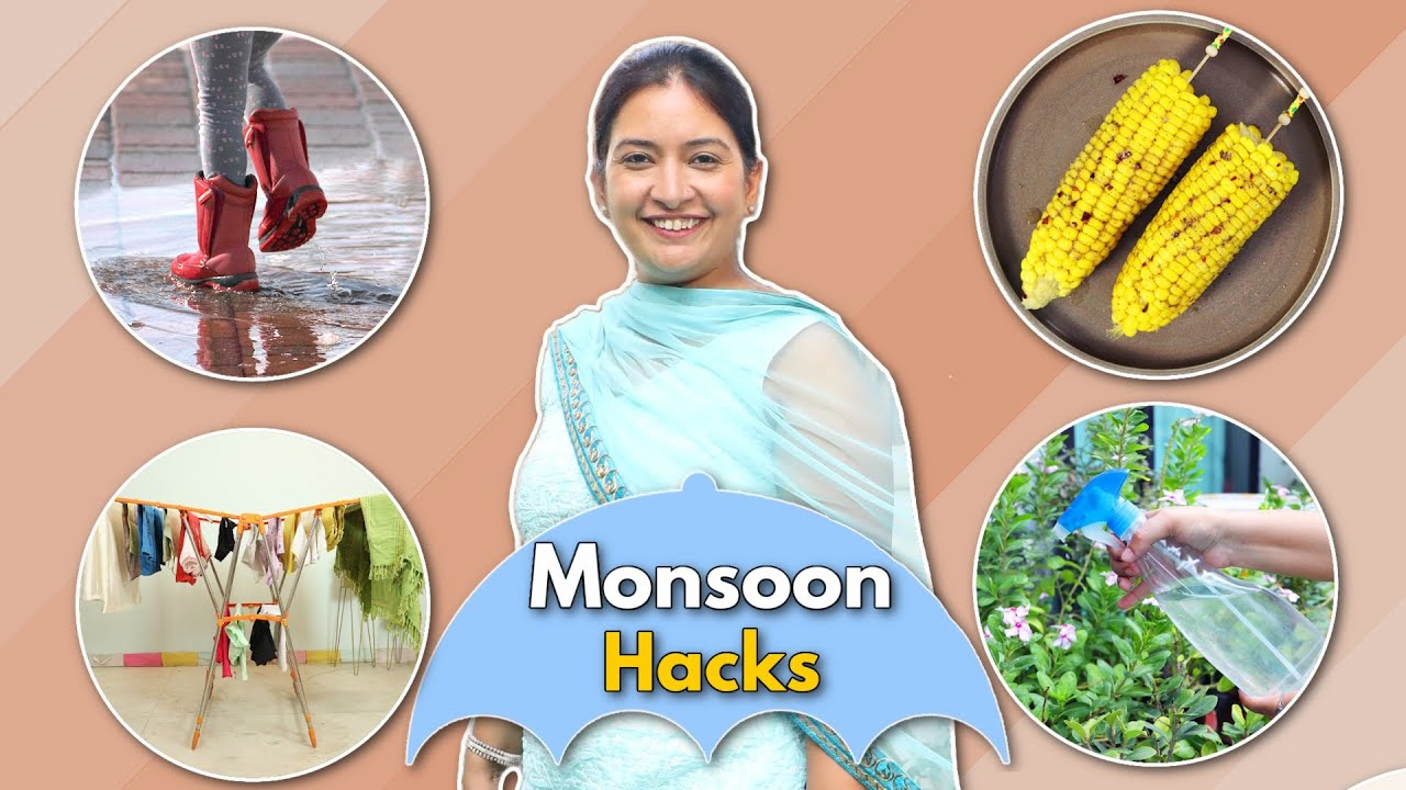 6 MONSOON Kitchen HACKS and TRICKS You MUST Know | CookWithNisha