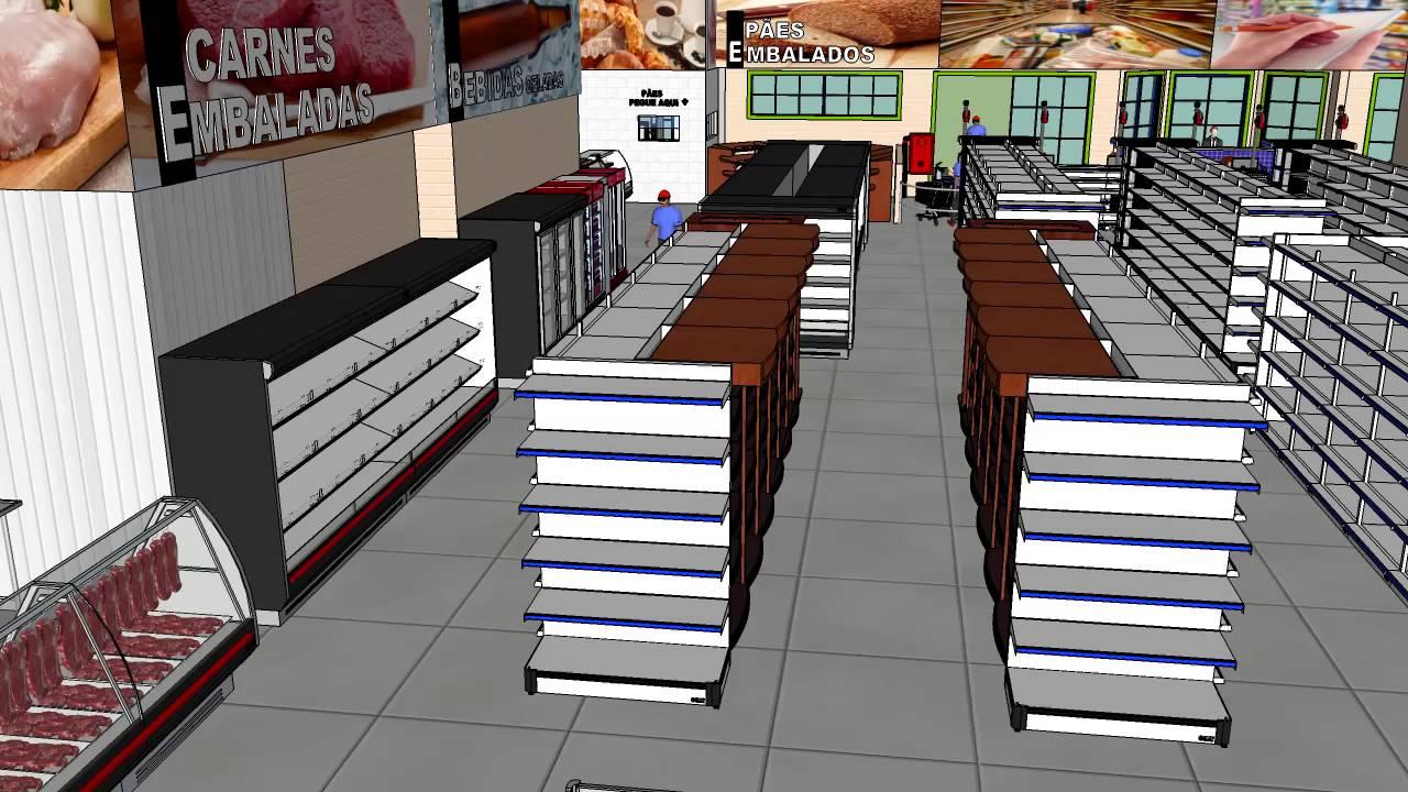 Resultado de imagen de supermercado 3d