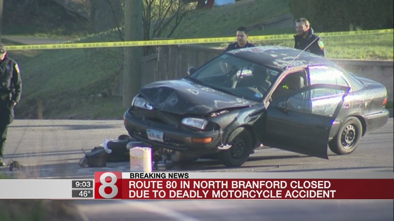 Motorcyclist dies in crash that closed Route 80 in North Branford