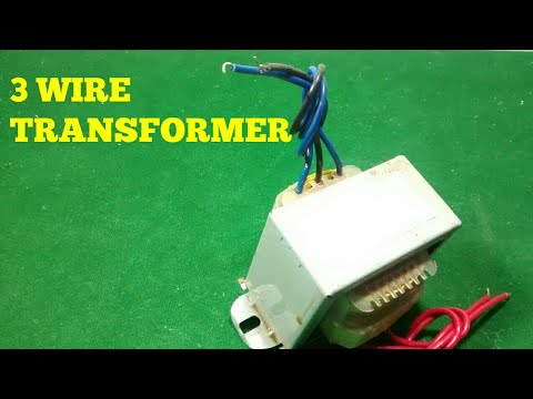 HOW TO USE A 3 WIRE TRANSFORMER ? Wiring A Transformer on