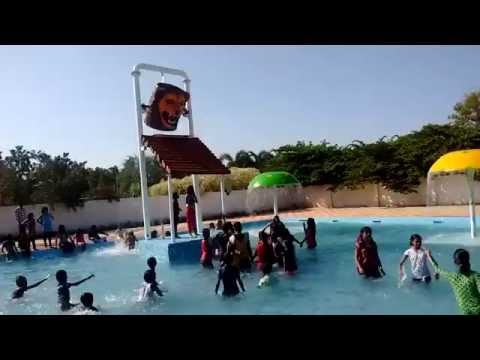 School children in swimming pool at Rainbow Resorts 2