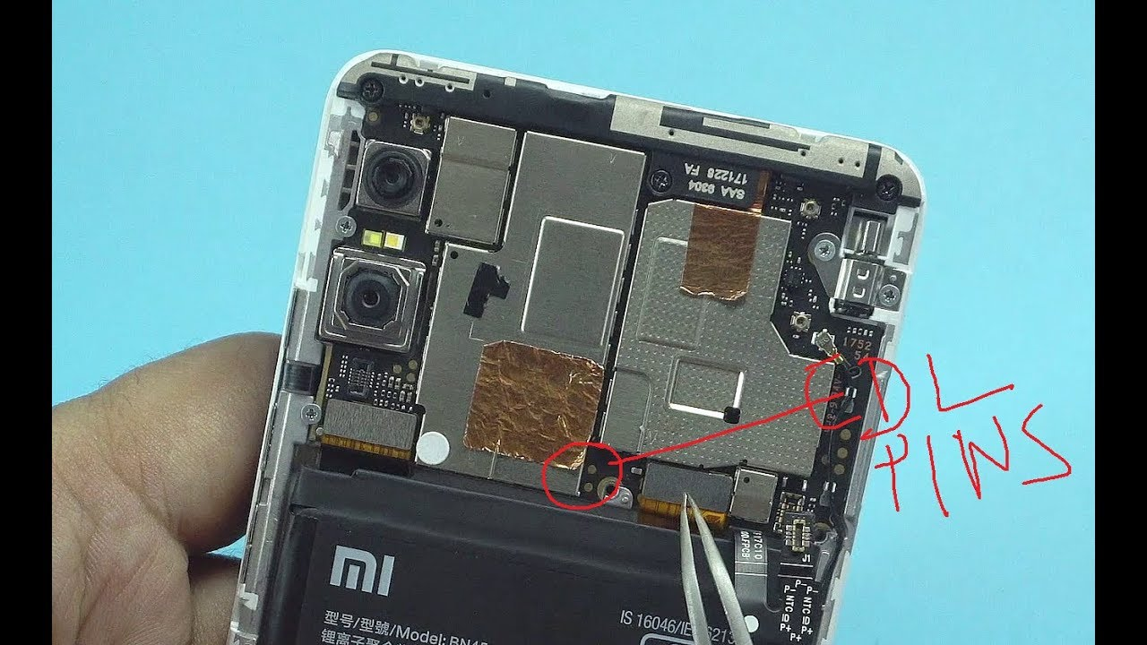 Redmi Note 5 Pro EDL Mode PINOUT (Emergency Download Mode) by Shorting 2  Pin Method |||