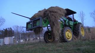 HAY YOU!! JOIN ME FOR A  TRACTOR RIDE ON THE FARM AT SUNSET GATHERING HAY..TASTE THE GOOD LIFE! thumbnail