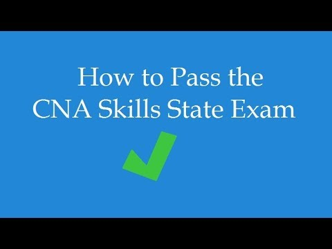 How To Pass The CNA Skills Test