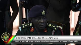 Courtesy Call by Family of Maj. Mahama