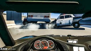 EPIC POLICE CHASES #4 - BeamNG Drive Crashes