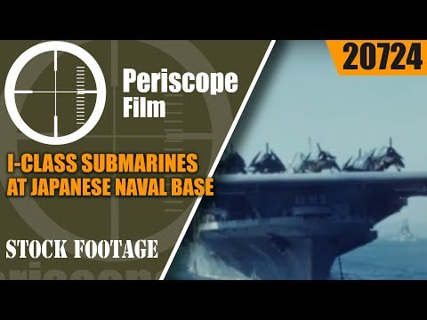 I-CLASS SUBMARINES AT JAPANESE NAVAL BASE AT KURE 16mm WWII HOME MOVIE 20724
