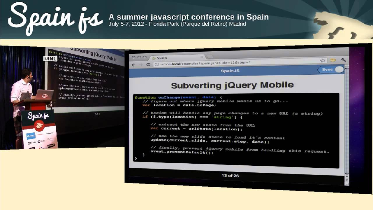 SpainJS - Building a maintanable and scalable JQuery mobile app