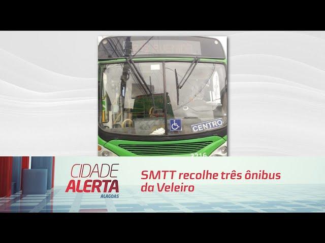 SMTT recolhe três ônibus da Veleiro que estavam descumprindo proibição
