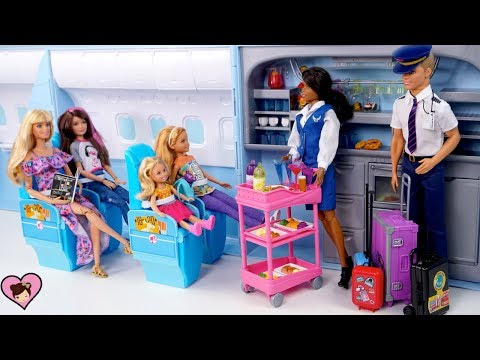 Barbie &  Sisters Airplane Travel Adventure –  Barbie Doll Holiday  Family Vacation Movie