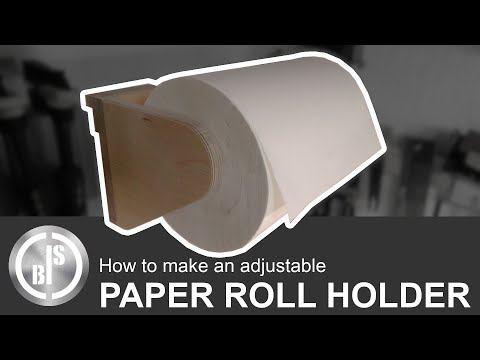 How to Make an Adjustable Paper Towel Roll Holder