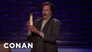 Ron Burgundy's Prop Comedy Routine - CONAN on TBS