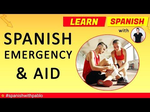 40 Spanish Emergency / First Aid Phrases tutorial, English to Spanish language