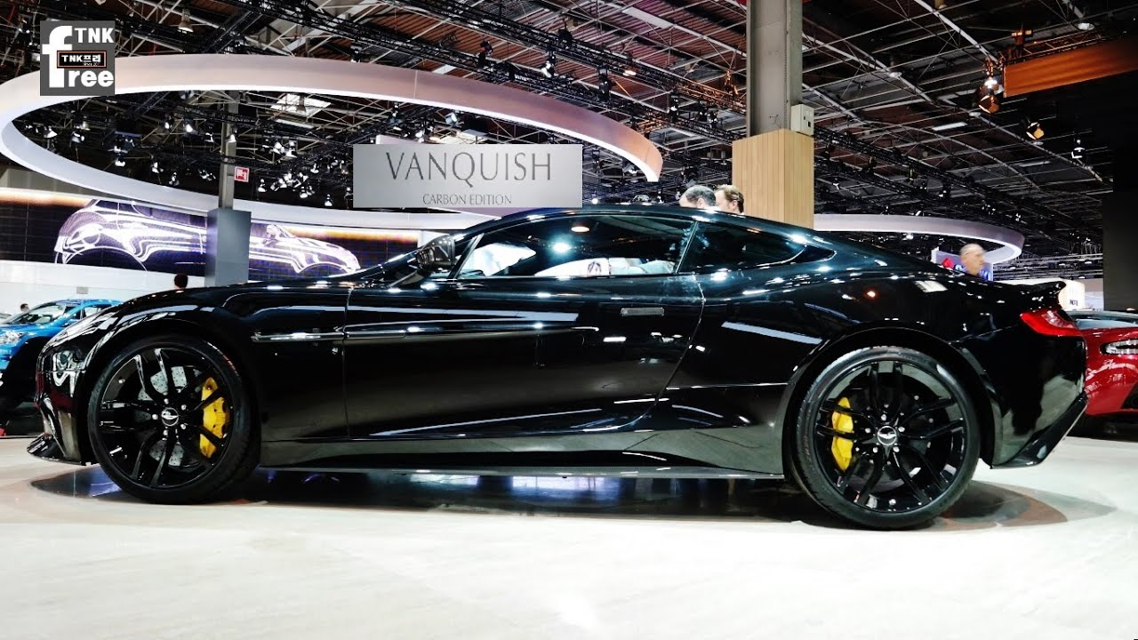 Aston Martin Vanquish Carbon Edition Paris Motor Show YouTube - Black aston martin vanquish