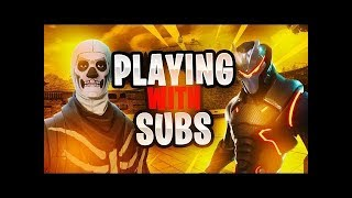 Fortnite Live /PLAYING WITH NEW SUBS / GIVEAWAY AT 100 SUBS!